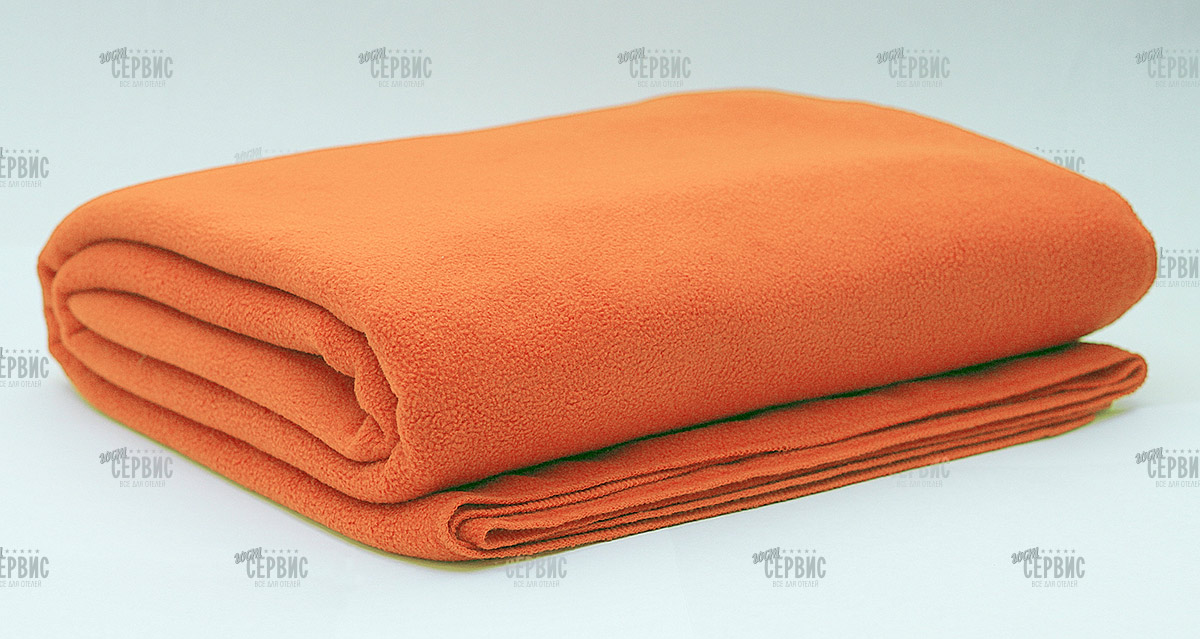 Плед оранжевый
