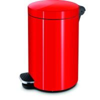 Ведро для мусора с педалью 5 л. Красный