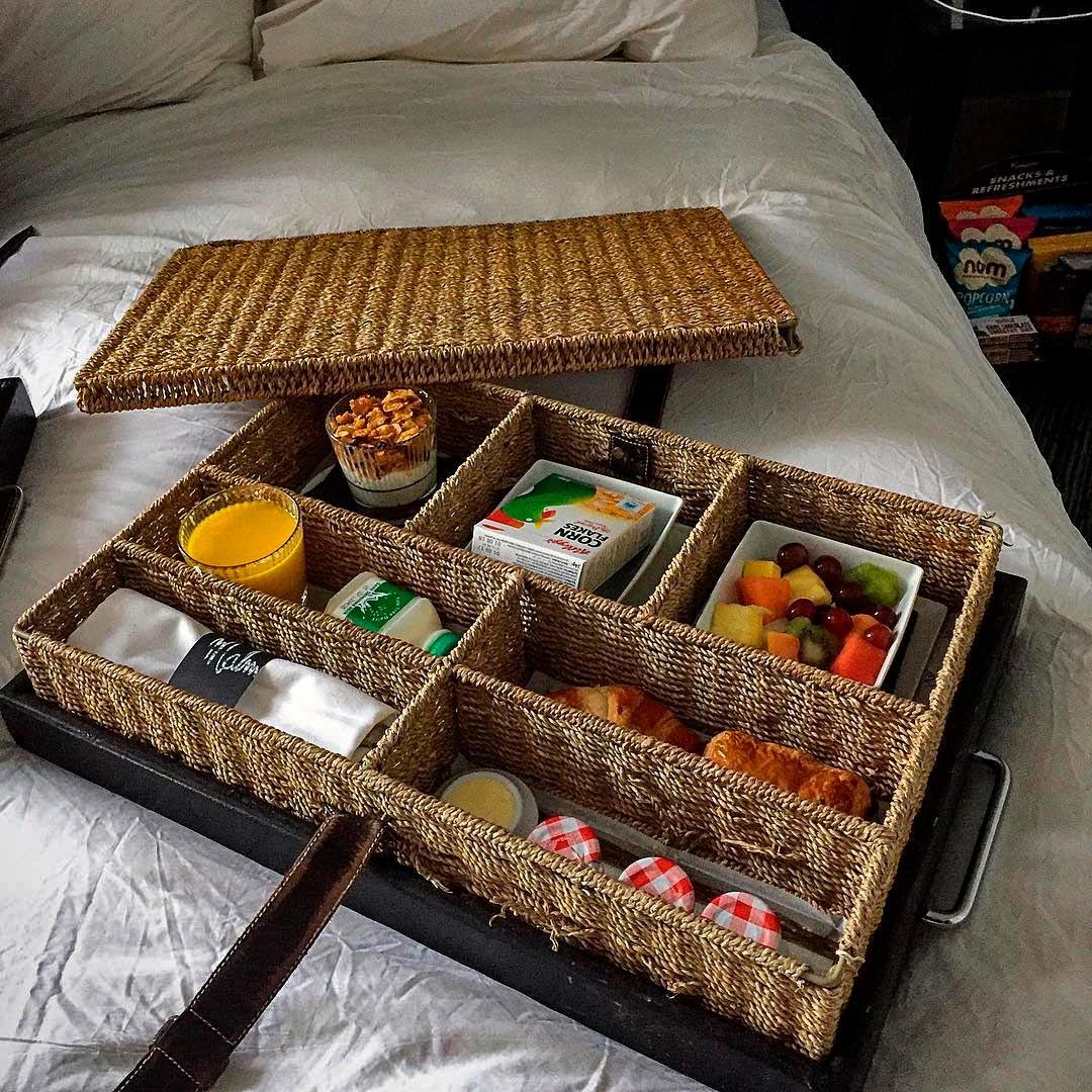 Так подают завтрак в постель в отеле Malmaison