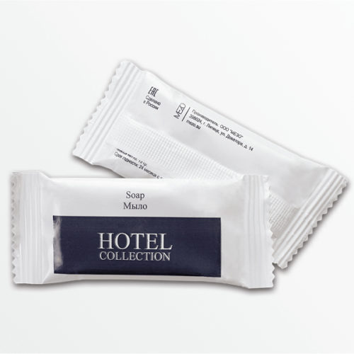 Мыло для гостиниц в упаковке флоупак