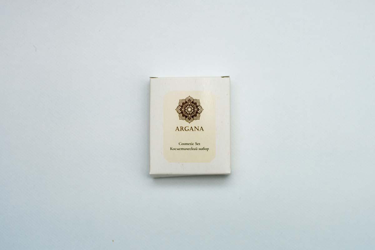 Упаковка косметического набора для гостиниц Argana