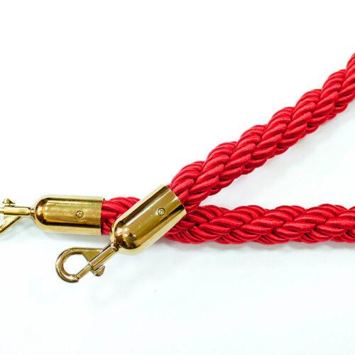 Канат ограждения плетеный красный